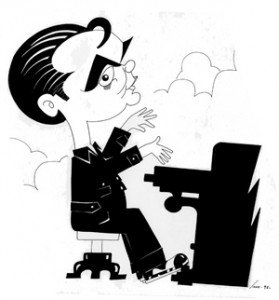 caricatura garcia lorca