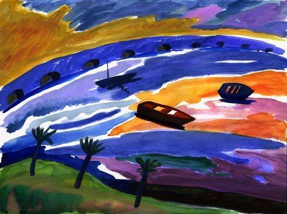 ria del burgo pintura paisaje siro
