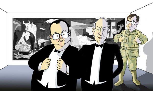 Iñigo Cavero, Rafael Fernández Quintanilla y Javier Tusell