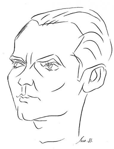 Federico García Lorca dibujo de Siro