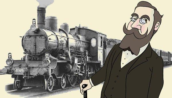 Curros Enríquez co tren por Siro