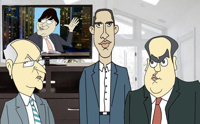 Antonio Ledezma, Juan Guaidó y Julio Borges por Siro