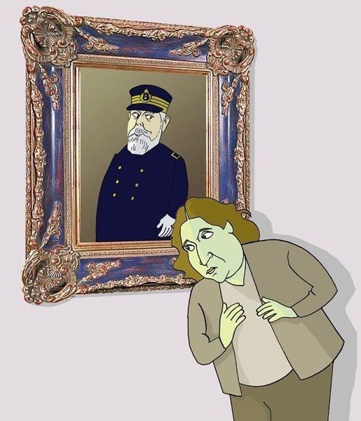 Ada Colau e o almirante Cervera por Siro