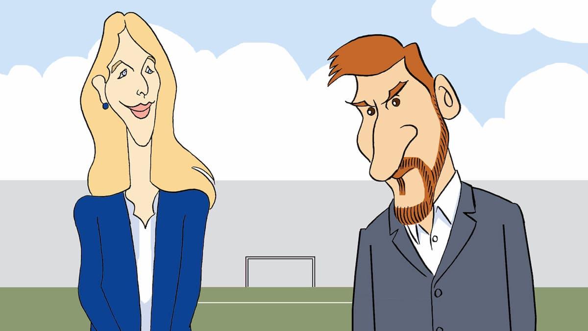 Puntadas sen fío: Cayetana e Messi por Siro