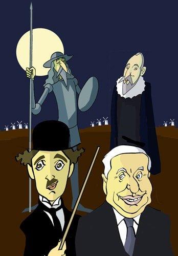 Chaplin, Cervantes e un Charlot quixotesco