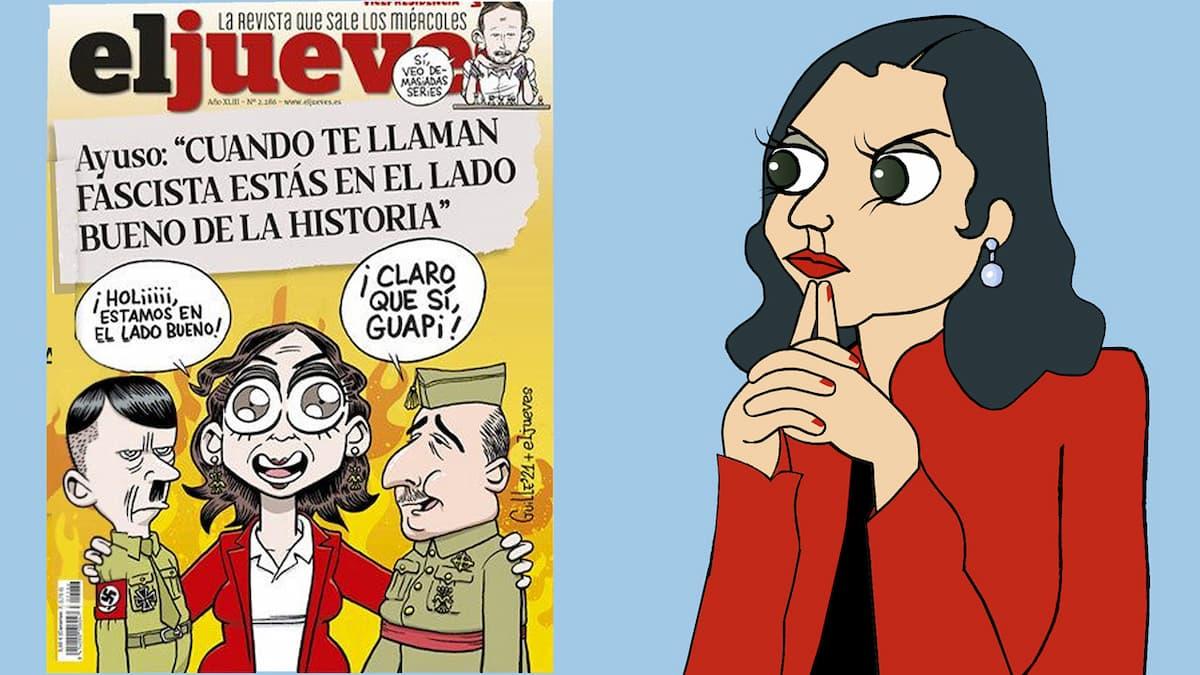 Puntadas sen fío: Díaz Ayuso en portada por Siro