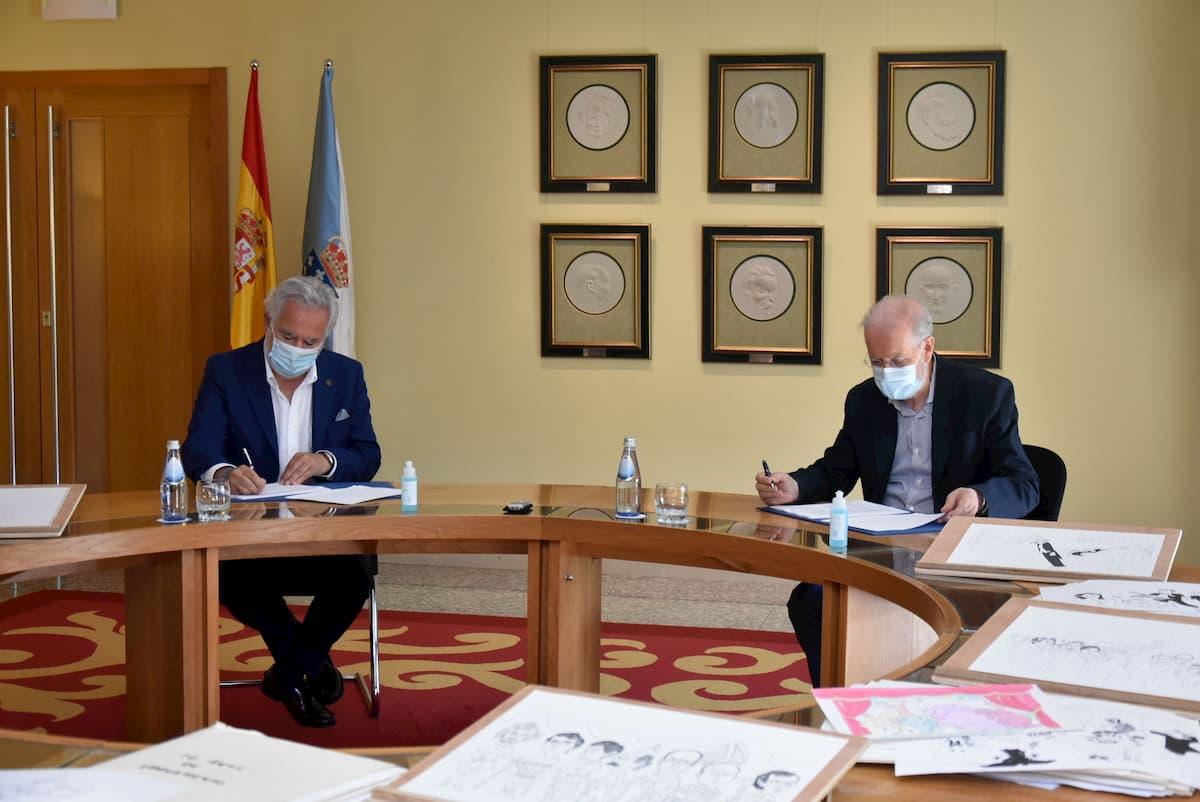 """Donación Parlamento de Galicia colección """"Historia de la autonomía gallega en caricatura"""" (1985-2006). Siro"""