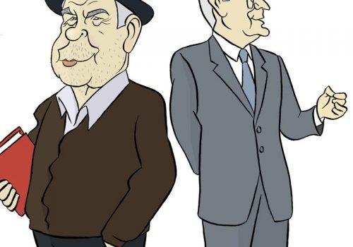Dous homes de humor por Siro