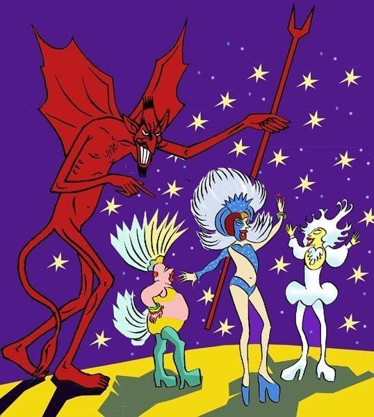 Drag Queens e Satanás por Siro