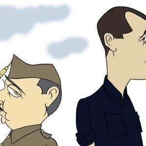 Franco e José Antonio por Siro