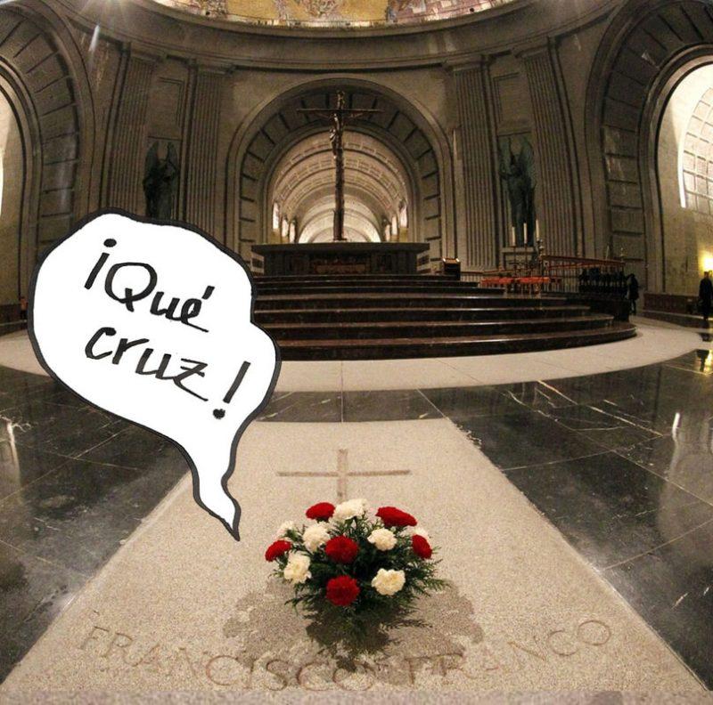 Franco no Val dos Caídos por Siro