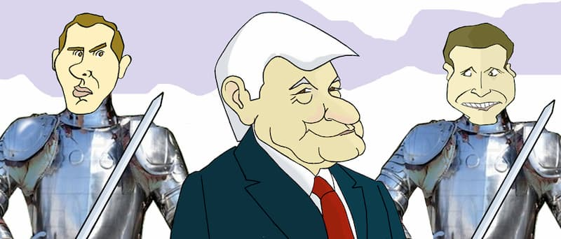 V Centenario: Albert Rivera, López Obrador y Pablo Casado por Siro