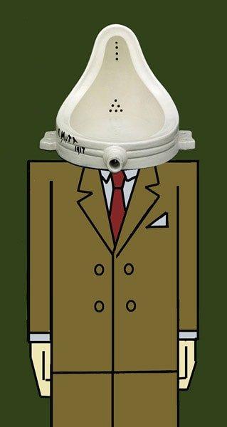 O urinario de Duchamp e Arco por Siro