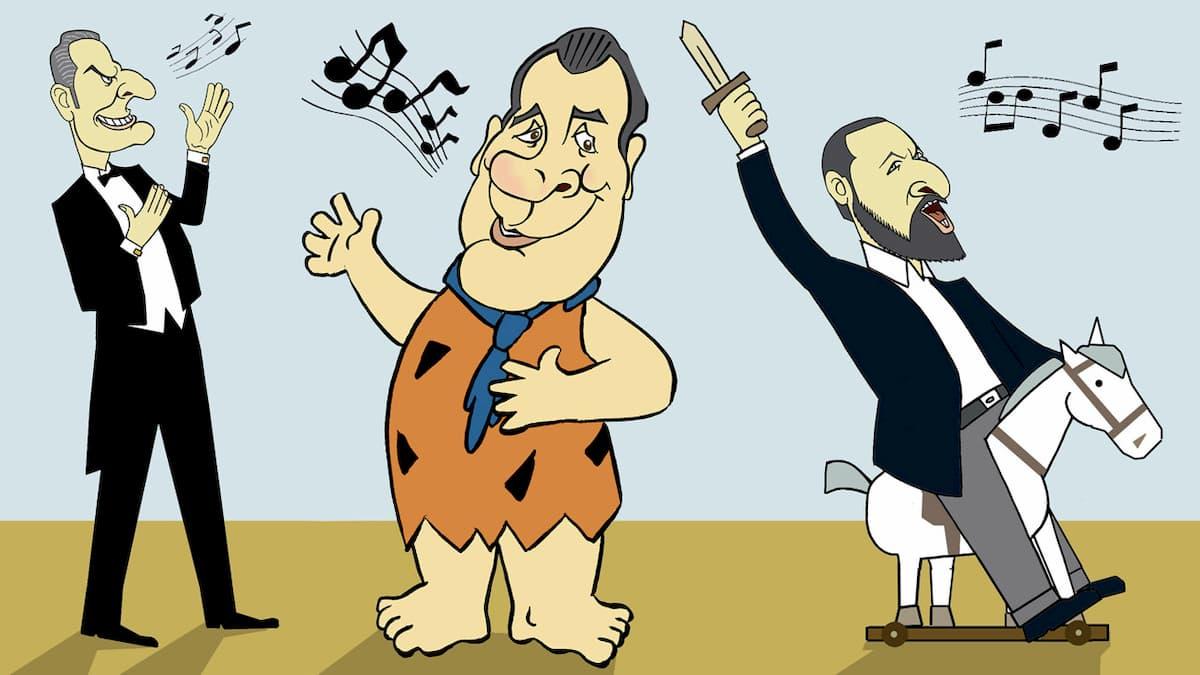 Ortega Smith, Pedro Fernández, Santiago Abascal de Vox por Siro