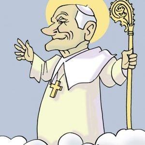 Xoán Paulo II por Siro