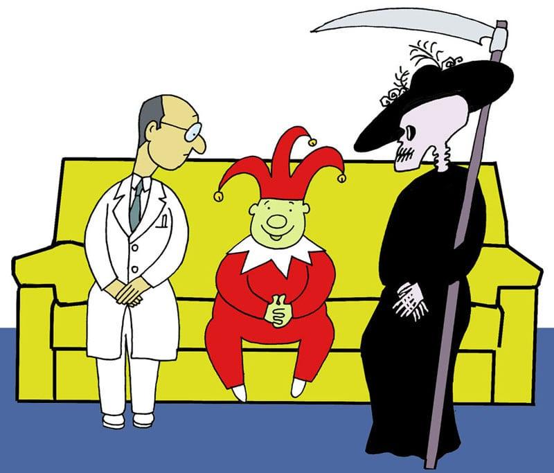O humor entre a medicina e a morte por Siro